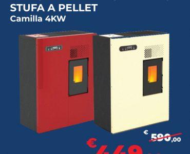 Stufa a Pellet Camilla 4kw